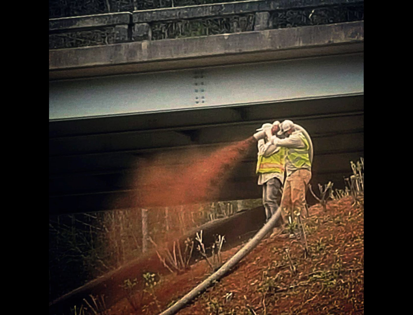 mulch blower, roadsides