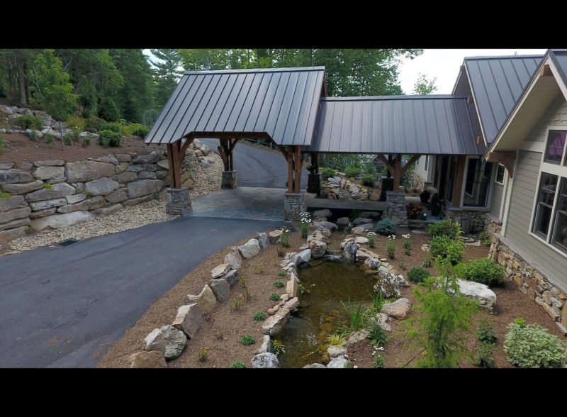native stone landscape design